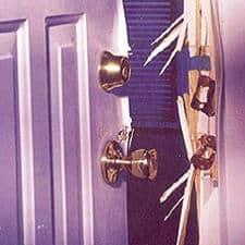 Broken Door Jam After Kick In Attack Tumblers Locksmith
