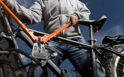 KEEP BIKE THIEVES AWAY WITH THIS LOUD ALARM LOCK BY ABUS